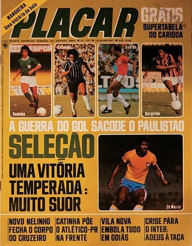 Lote Revistas Placar Anos 70, 80, 90, 2000 - 6 Edições
