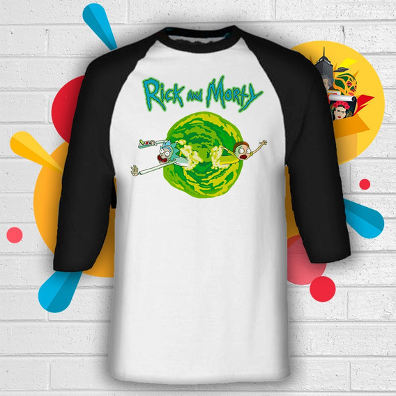 Playera De Rick And Morty Manga 3/4