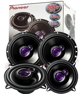 Kit De Som Carro Pioneer Gol G2 G3 G4 G5 Kit P/ As 4 Portas