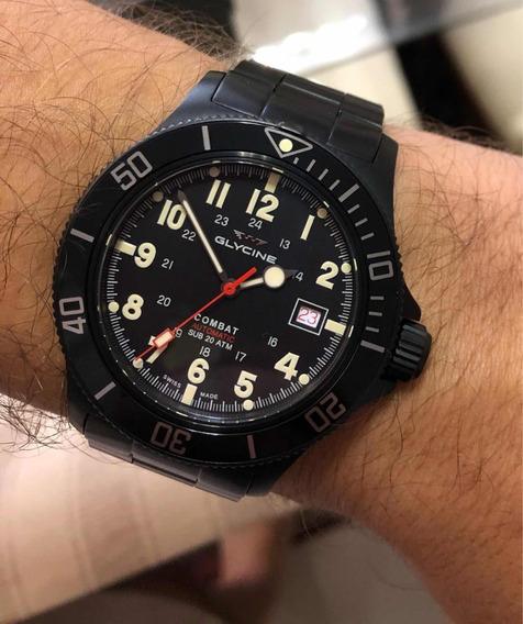 Relógio Glycine Combat Sub Gl0244 Automático Suíço Eta 2824