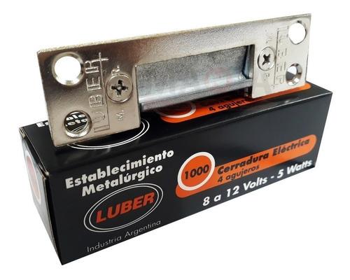 Cerradura Electrica Pestillo Luber 1000 Bobina Simple