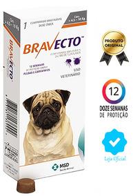 Bravecto Antipulgas Original Msd Para Cães De 4,5 A 10 Kg