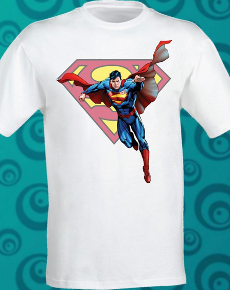 Playera Superman Classic Sublimada Dc Comic 083