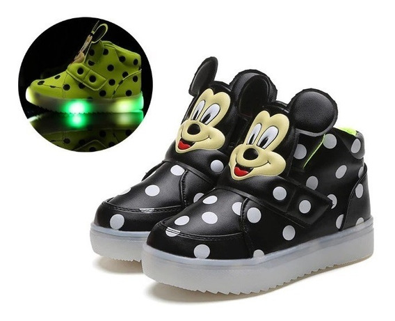 Tênis Infantil Mickey Led Fashion Lindo