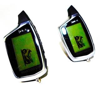 Alarma Doble Vía Moto Controles Lcd Recargables Impermeable