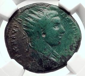 Moeda De Bronze Autêntica Heliogábalo Império Romano 218 Dc