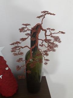 Bonsai De Alambre, Árbol De Alambre De Aluminio Color Cobre