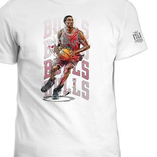 Camisetas Estampada Scottie Pippen Bulls Basketball Ink 1