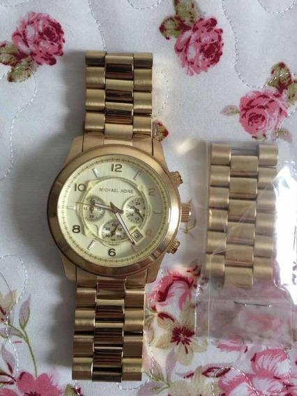 Relógio Michael Kors Original Dourado Lindo