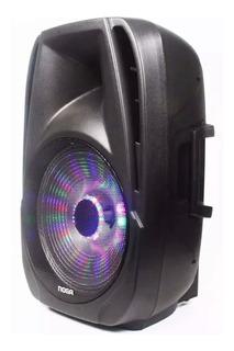 Parlante 15 Pulgadas Noga Bluetooth Karaoke Portatil Sp6110 15 + Micrófono Inalámbrico + Luz Led De Regalo! Oferta