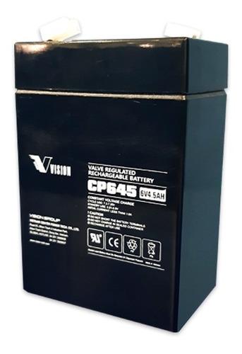 Imagen 1 de 5 de Batería Vision 6v 4.5ah  Lámpara Alarma Y Cercos Eléctricos