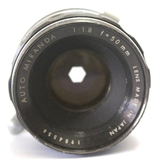 Lente Miranda 50mm 1.8 Japan Retro Coleção Retirada De Peça