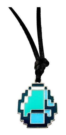 Colar Ajustável Minecraft Diamante, Jogos, Games, Geek