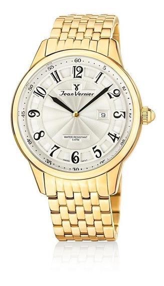 Relógio Pulso Jean Vernier Com Calendário Masculino Jv01129