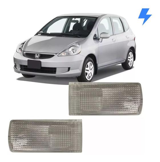 Par Lente Da Lanterna Luz Teto Leitura Honda Fit 2004 2005 2006 2007 2008