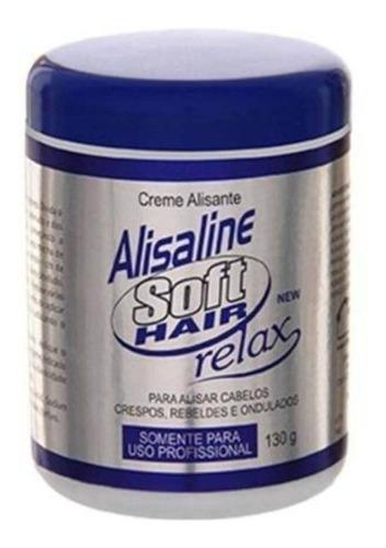 Imagem 1 de 1 de Softhair Alisaline Relax Creme Alisante Azul 130g