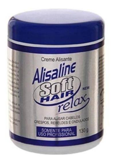 Softhair Alisaline Relax Creme Alisante Azul 130g