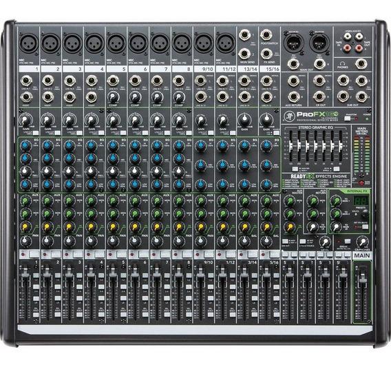 Mesa De Som 16 Canais Com Usb Rec Profx-16 V2 - Mackie