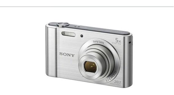 Câmera Digital Sony Cyber-shot Dsc-w800 Prata