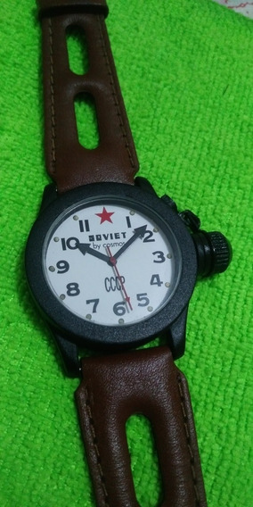 Relógio Cosmos Soviet Cccp Fundo Branco Muito Bonito!