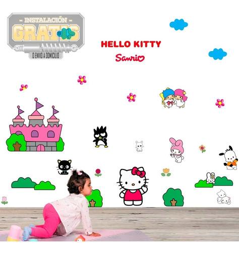 Vinilo Decora Infantil Hello Kitty Sanrio Niña + Instalacion