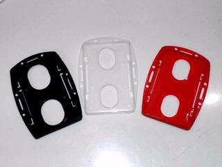 Portacarnet Plastico Doble Cara (precio Por Cada 4 Uni)