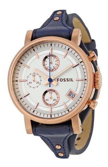 Relógio Feminino Fossil Es3838 - Pulseira Em Couro