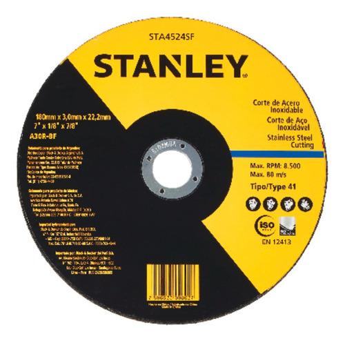 Disco Corte Inox 7 Pol X 3mm X 7/8 Pol Stanley Sta4524sf