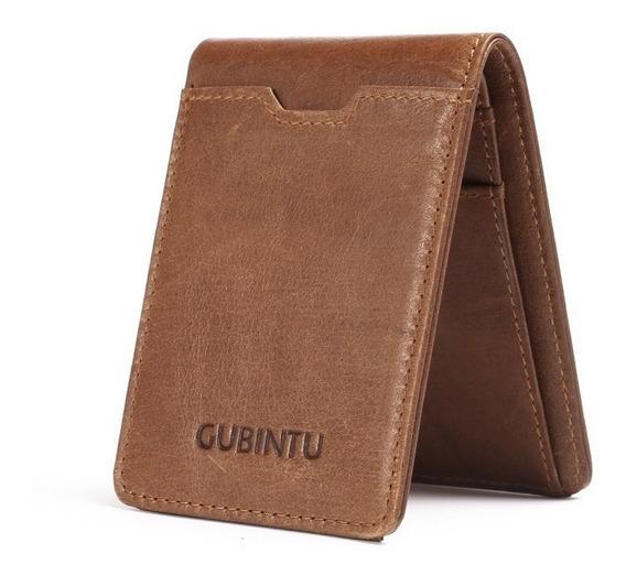 Billetera Para Hombre Cuero Bifold Cartera Crédito Tarjeta