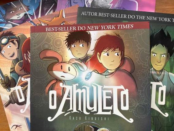 5 Primeiros Livros Hq O Amuleto Editora Fundamento