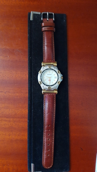Relógio Michele , Pulseira Original De Couro