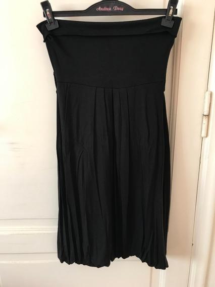 Vestido Baloon Negro Strapples