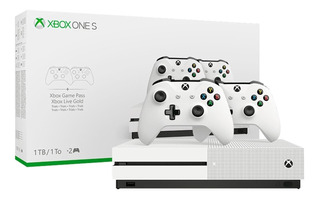 Microsoft Xbox One S 1TB Two-Controller Bundle blanco