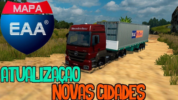 Mapa Brasileiro Para Euro Truck Simulator 2 - Mapa Eaa