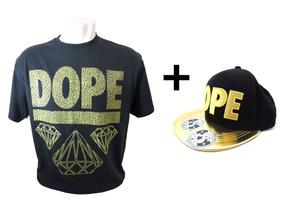 Kit Camisa Masculina Dope + Boné Aba Reta