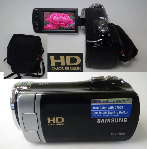 Filmadora Samsung Hmx-f900 Hd Alta Definição De Imagem 720p