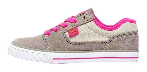Tenis Dc Shoes Gris Piel Y Lona Nuevos Original #21
