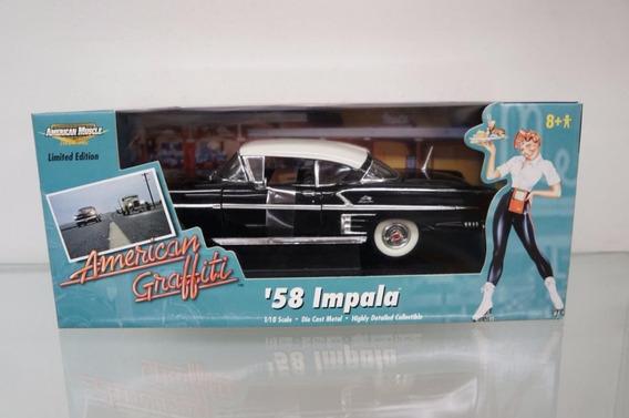 Mini Chevrolet Chevy Impala 1958 Ertl 1:18 American Graffiti