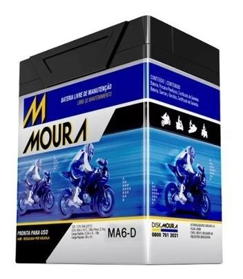 Bateria Moura Moto 6ah Yamaha Xtz 250cc