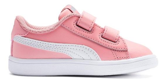 Puma Zapatillas Lifestyle Niña Infantil Smash V2 Rosa