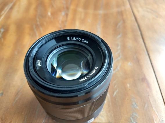 Lente Sony Sel-50f18 E 50mm F1.8 Oss