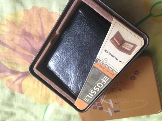 Vendo Billetera Fossil De Cuero Negro