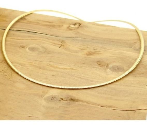 Colar Gargantilha Omega Ouro 18k E Ouro Branco 45cm 2.5mm 5g