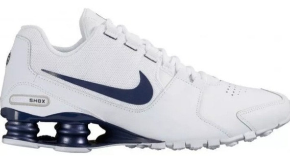 Tênis Nike Shox Avenue Leather Branco Azul Original Tam.42