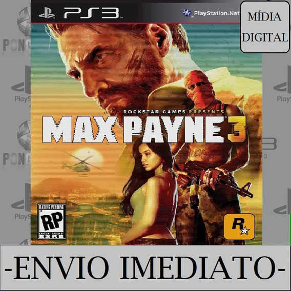 Max Payne 3 Ps3 Psn Mídia Digital - Play 3