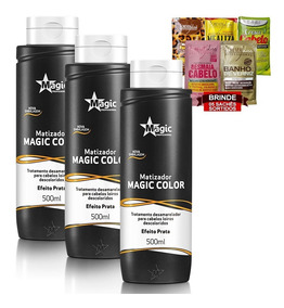 Kit 3 Magic Color Matizador Tradicional Prata 500ml + Brinde