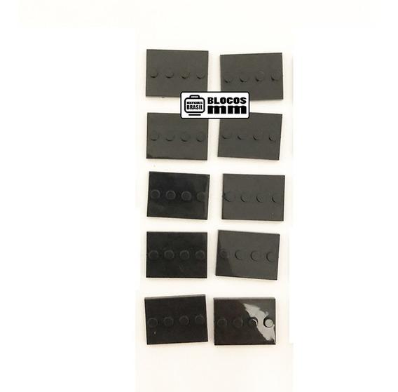 Kit 10x Base Minifigure Blocos De Montar Placa Boneco
