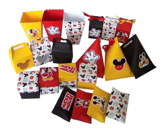 Mickey Mouse Cajitas Mesa De Postres Set De 20pz Surtidas