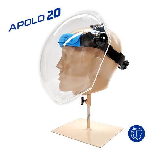 Mascara Protector Facial Acrilico Apolo 20 Ideal Para Lupas
