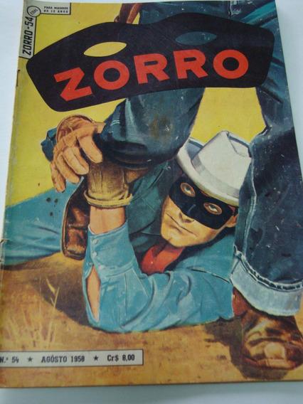 Zorro Nº 54 De 1958 Ebal Coleção Gibi Raro Antigo Excelente